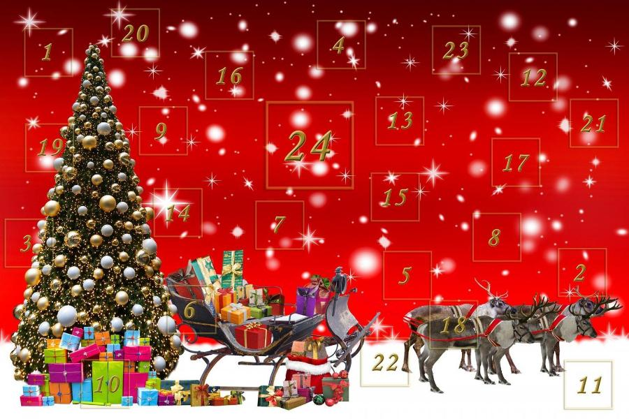 Stock image of advent calendar. Photo credit: Pixabay