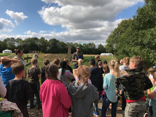 Children at Stanford Hall CSA. Credit: Good Food Leicestershire