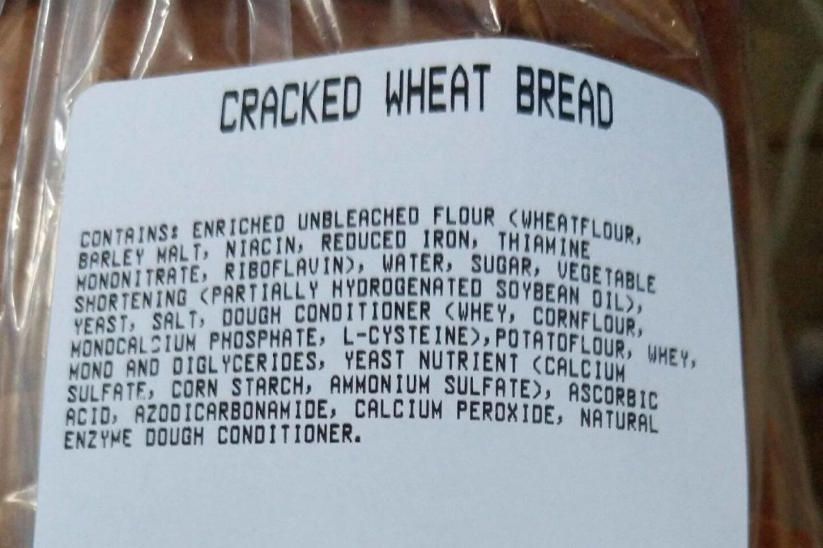 USA loaf with addtives banned in the EU. Open license photo from world.openfoodfacts.org