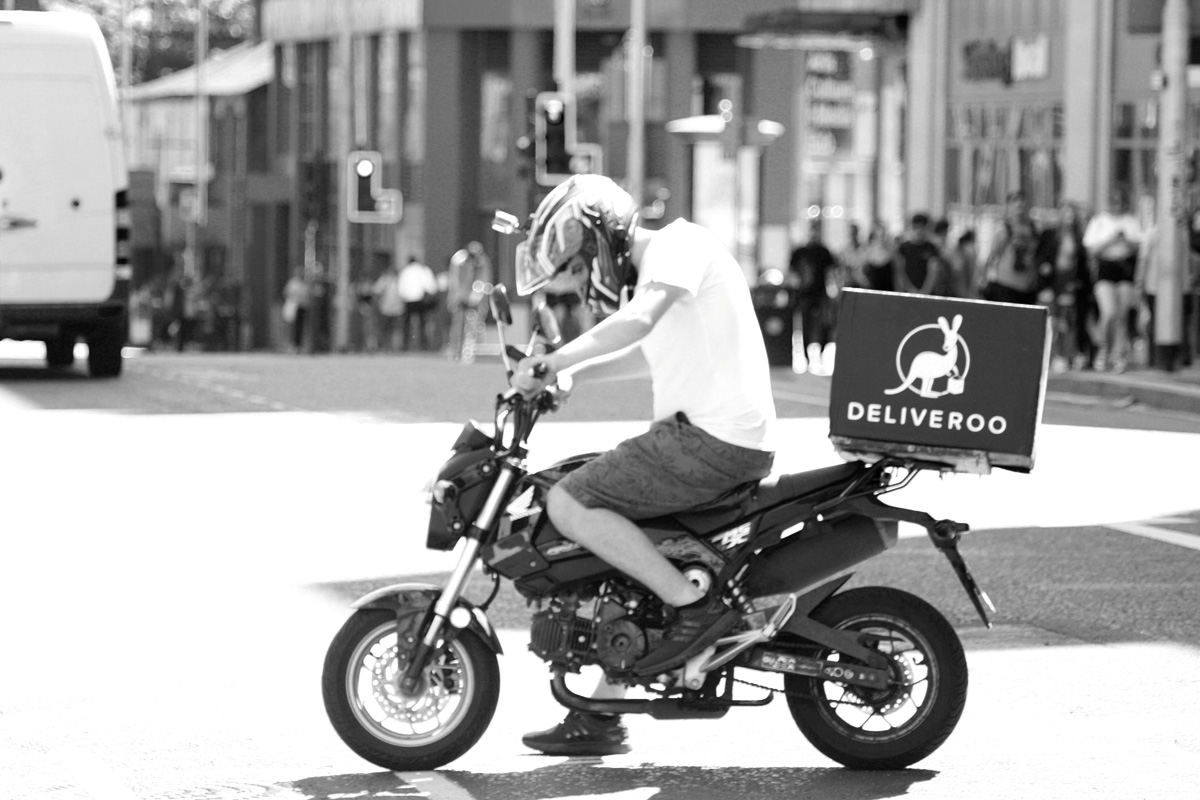 Deliveroo driver by www.shopblocks.com