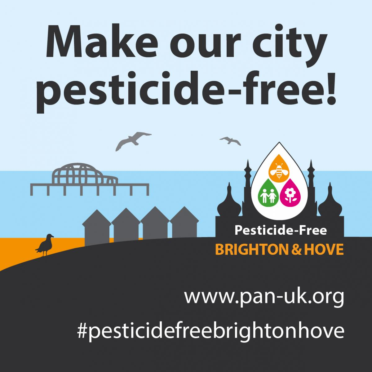 Pesticide Free graphic. Photo credit: PAN UK