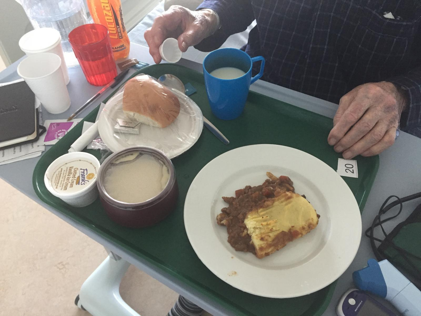 Food served to a hospital patient. Credit: Kath Dalmeny