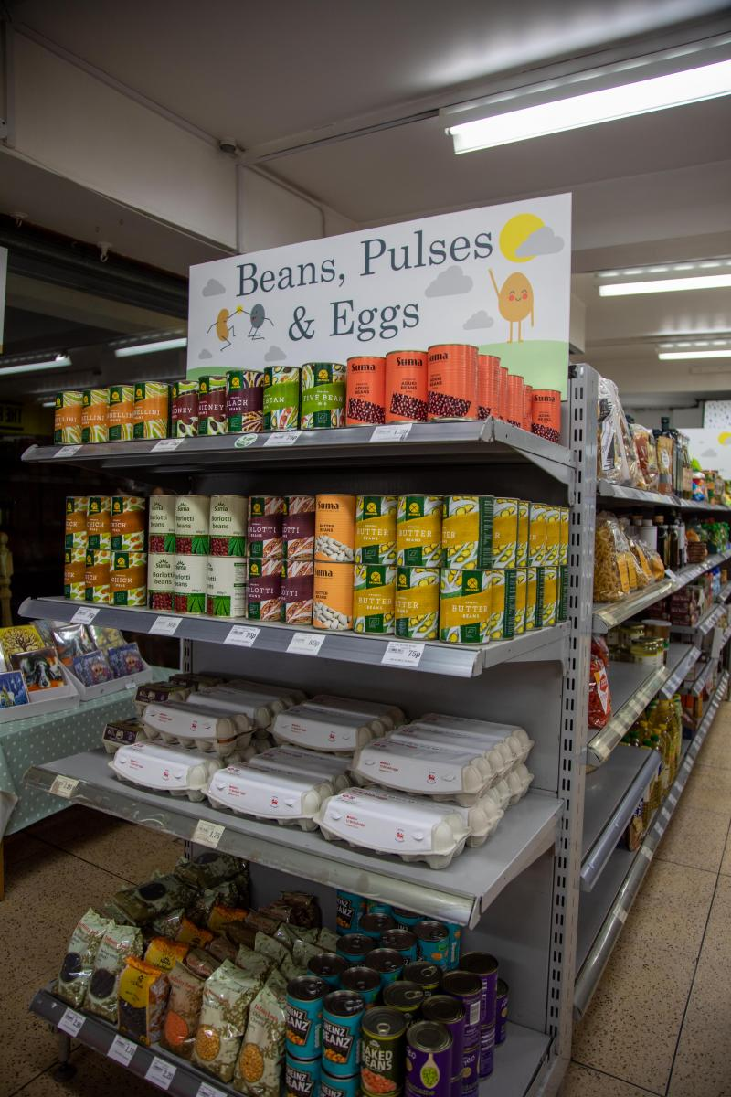 Inside the Nudge supermarket. Photo credit: RSPH