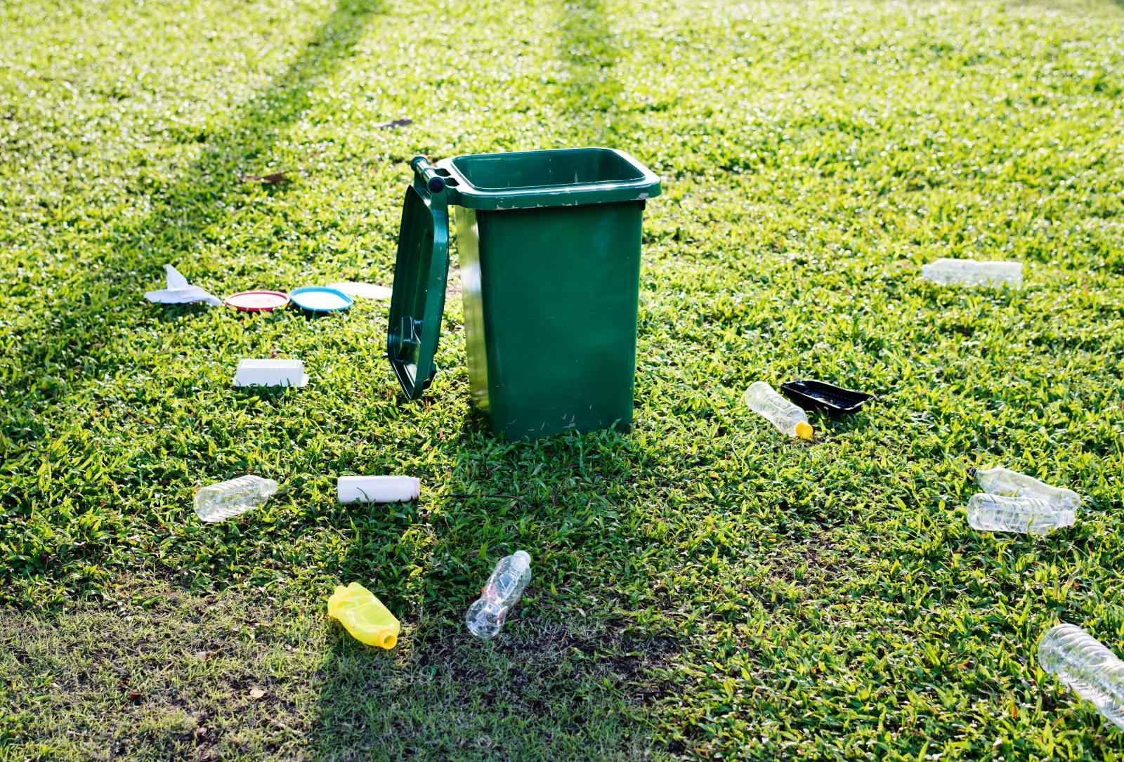 Plastic bottle litter. Photo credit: pexels