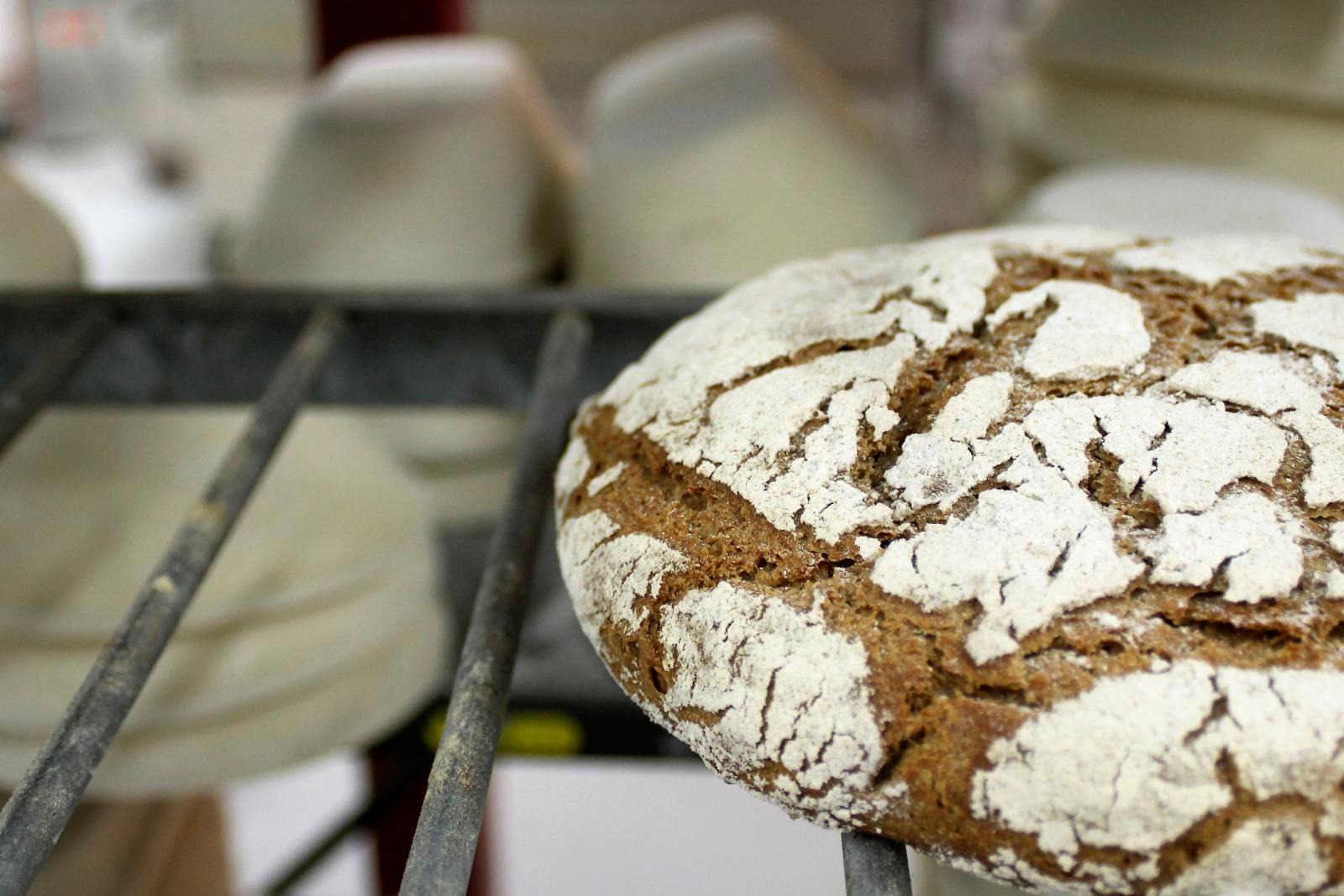 Real Bread cooling at Better Health Bakery by Chris Young