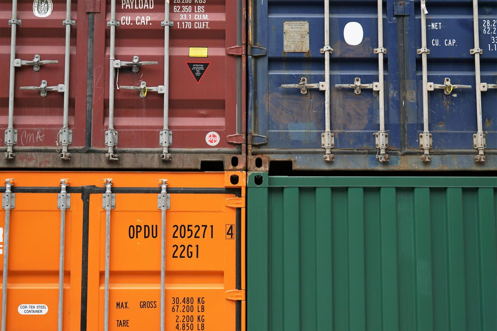 Shipping containers. Photo credit: Pixabay