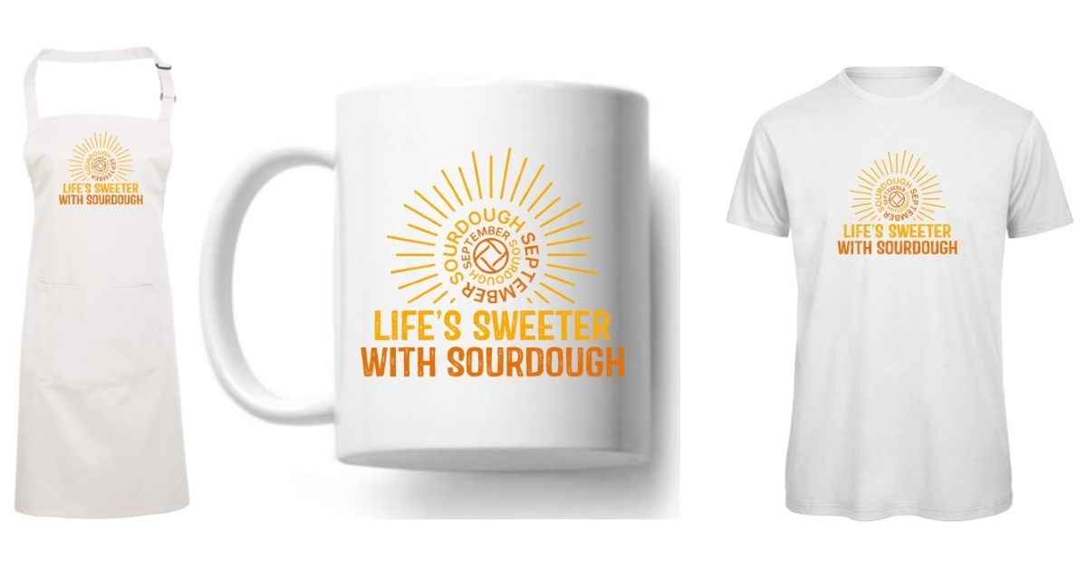 Design © the Real Bread Campaign.  See below for how to get your mitts on the t-shirt, apron and mug.