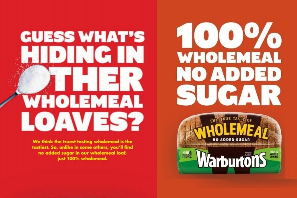 Two of the Warburtons adverts