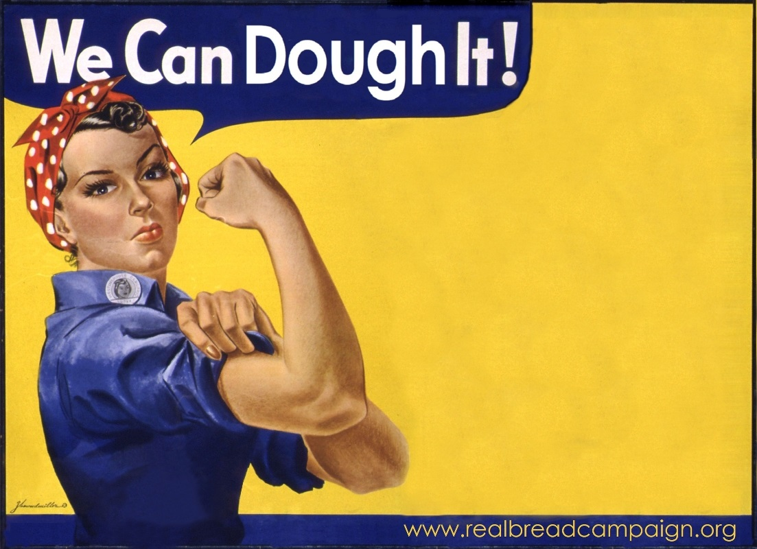 Adapted from J. Howard Miller's 'We Can Do It' (AKA Rosie The Riveter) Public domain