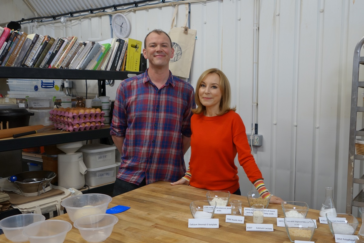 Secrets of Your Supermarket Food: Chris Young and Sian Williams. Photo: Chris Young / realbreadcampaign.org CC-BY-SA 4.0