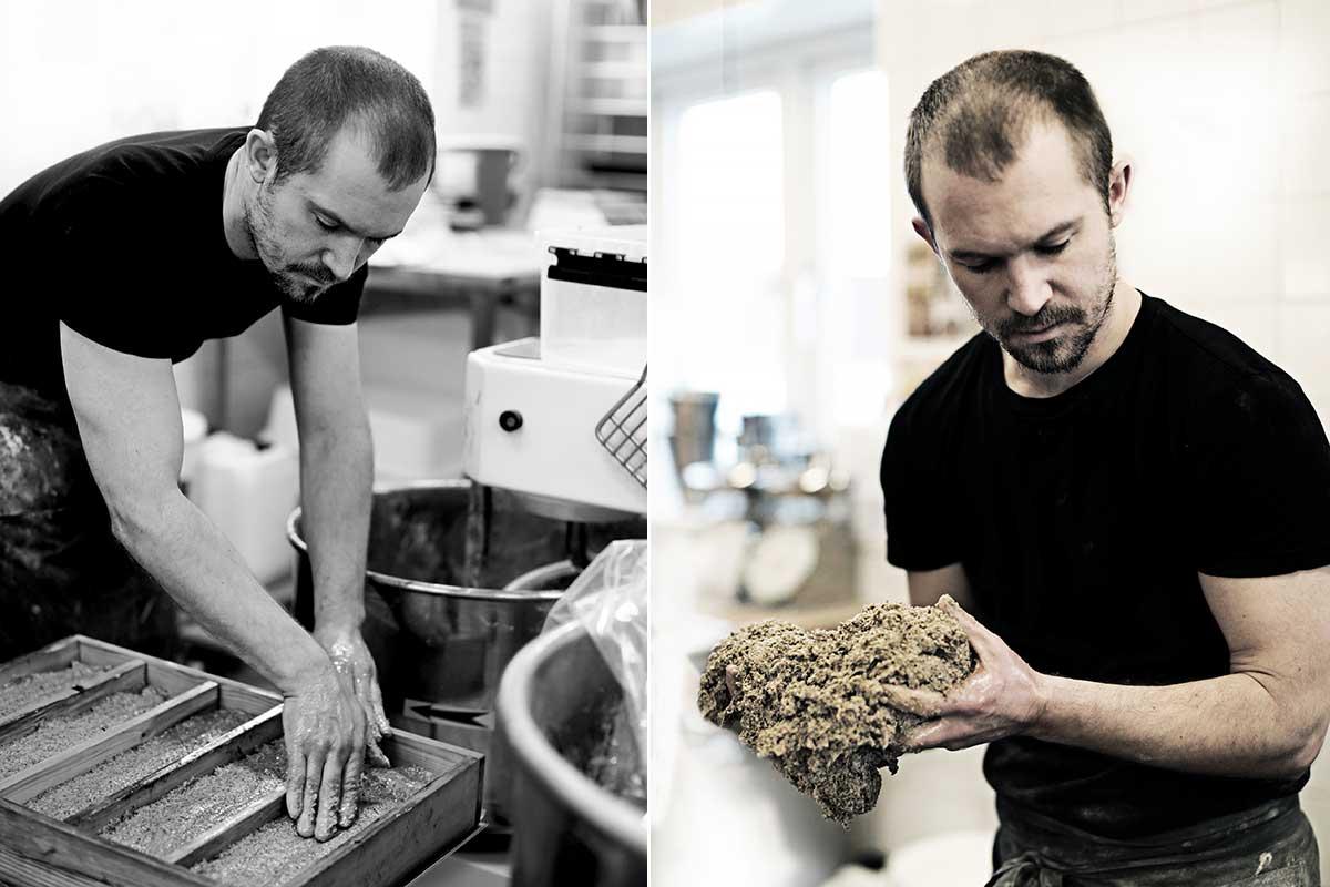 Dan Brown baking at Eldrimner in Sweden © Stéphane Lombard