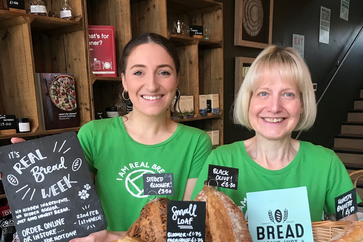 Eilish and Heather celebrating Real Bread Week © Honesty Group