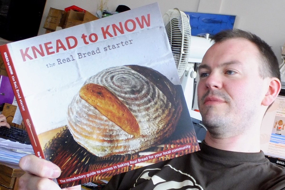 Help this bloke crowdfund the new edition! Photo: Chris Young / realbreadcampaign.org CC-BY-SA 4.0