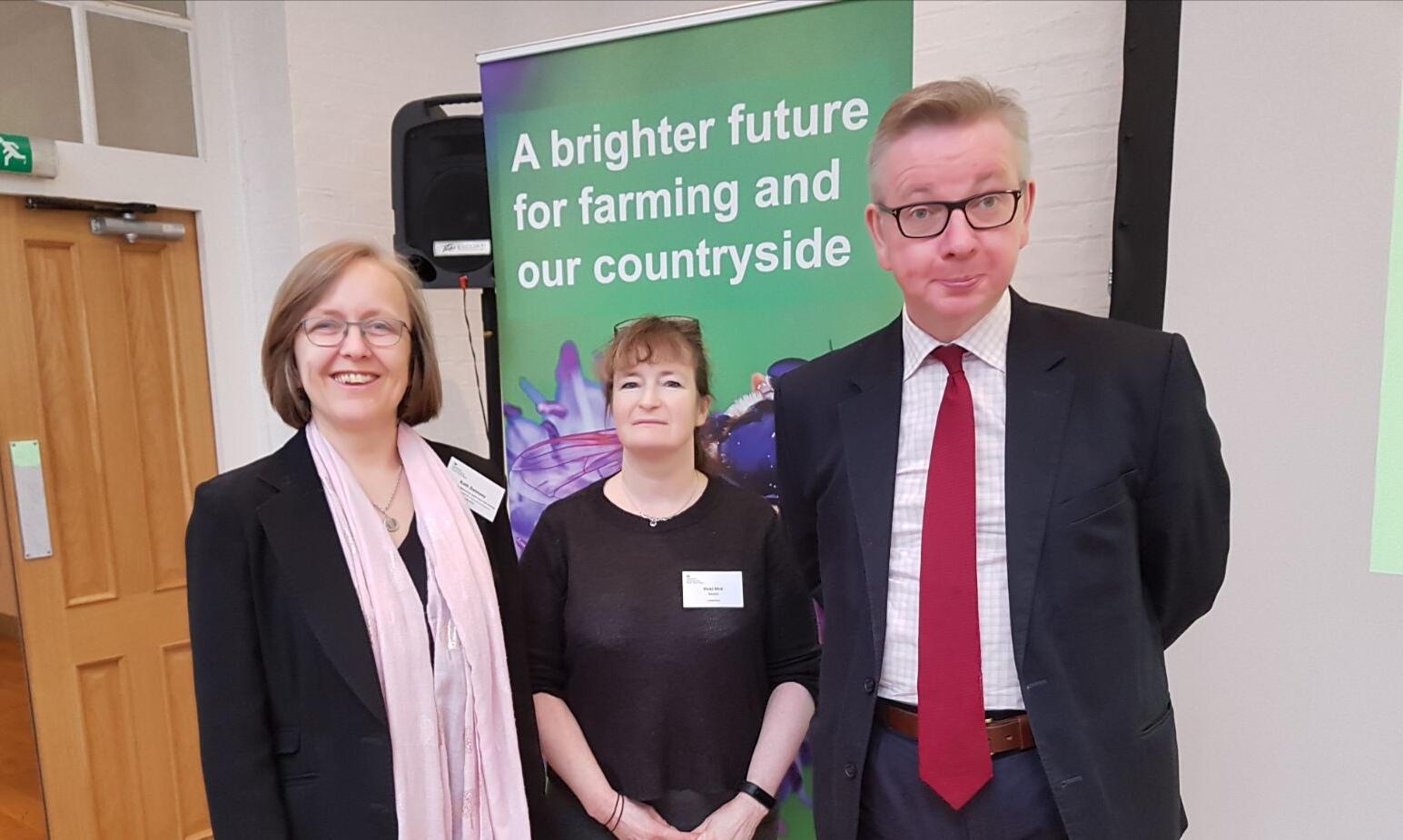 Kath Dalmeny, Vicki Hird, Michael Gove MP