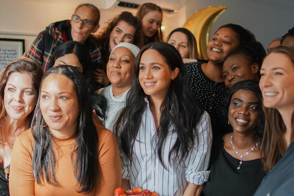 The Duchess of Sussex opening Luminary Bakery Camden © Lizzie Blix