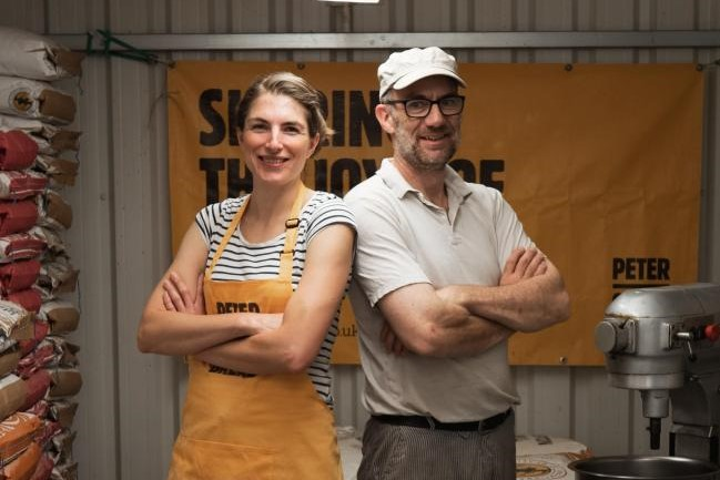 Shona Kely and Peter Cook, courtesy of Peter Cooks Bread