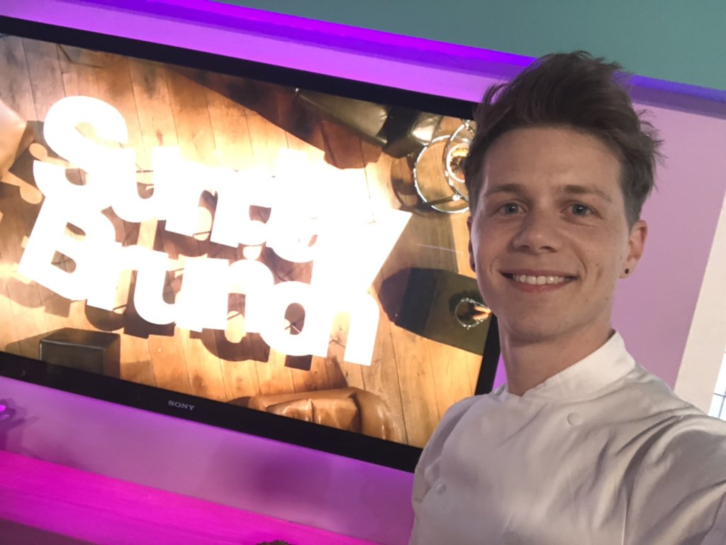 Campaign ambassador Jack Sturgess on the telly © Bake With Jack