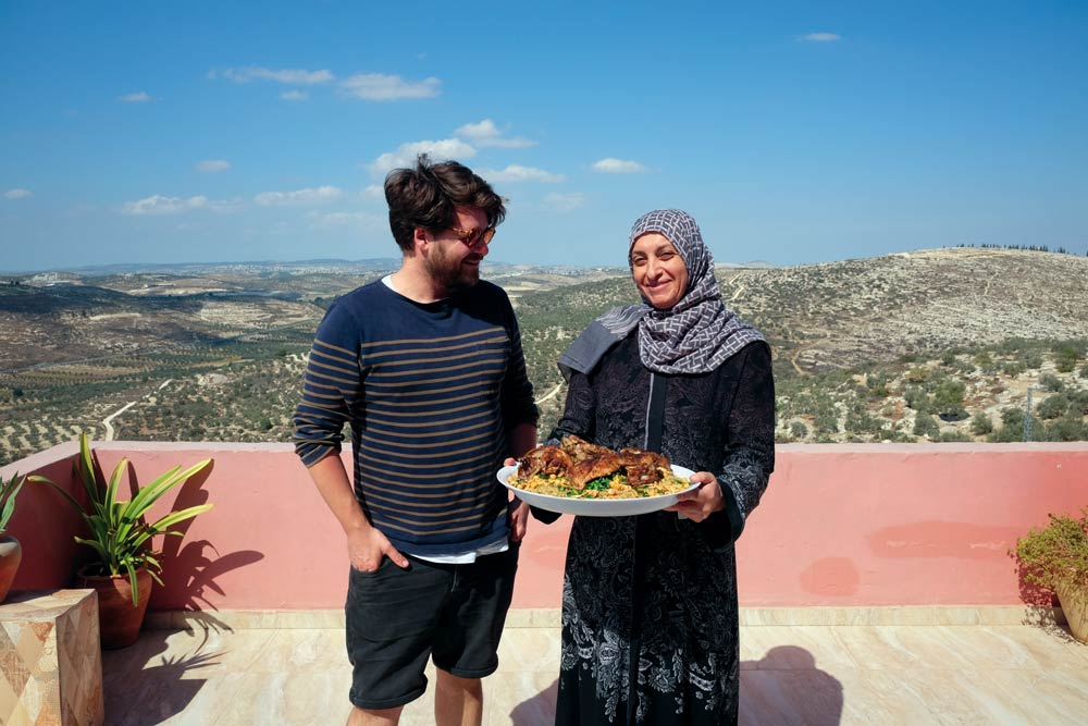 Tom Hunt in Palestine, courtesy of the Fairtrade Foundation