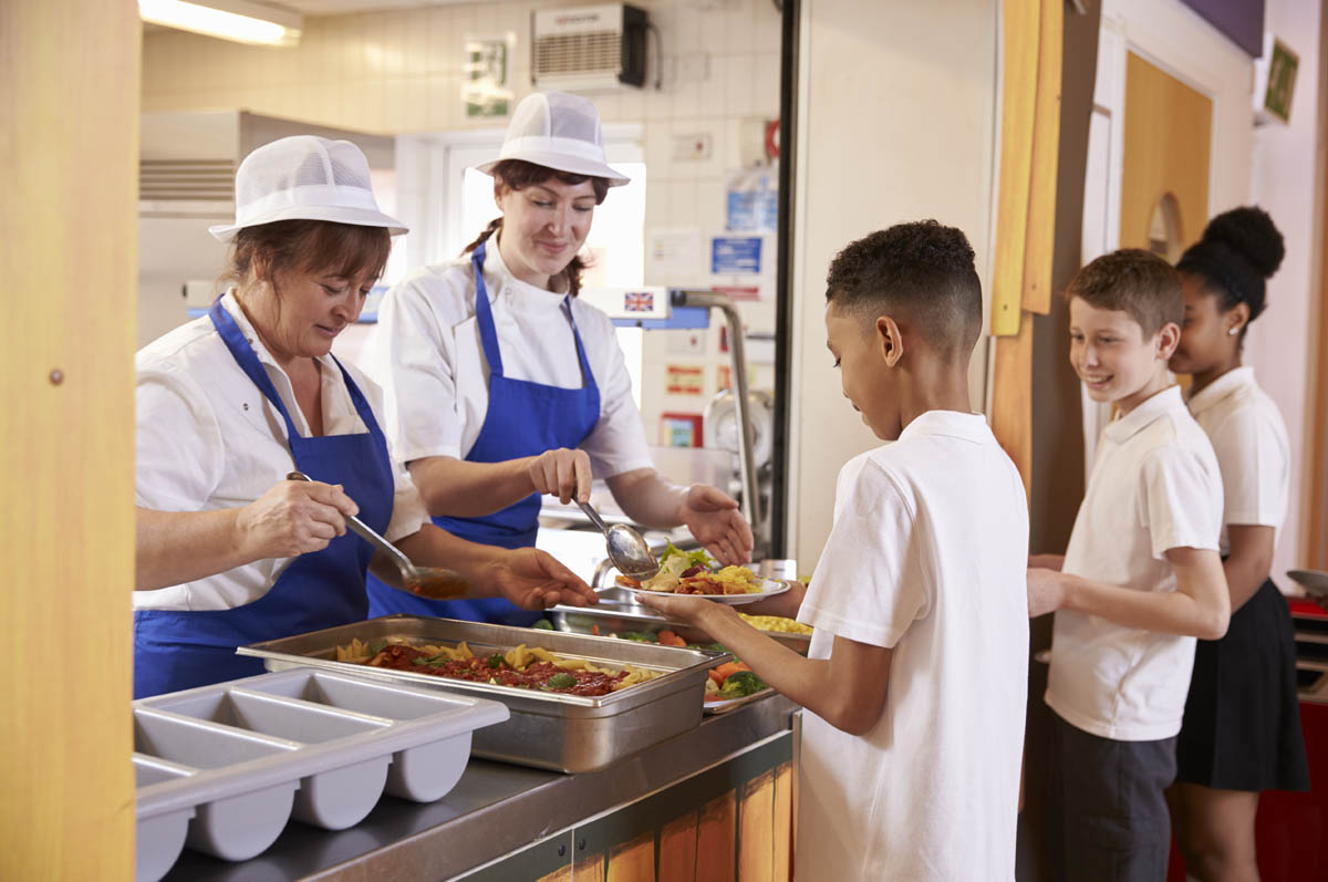 School serving food, credit: Shutterstock